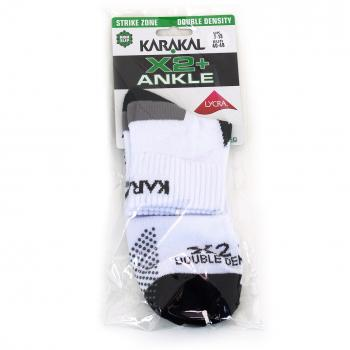 Karakal Socke X2 Ankle white/black