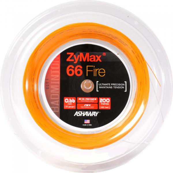 ASHAWAY ZyMax 66 Fire Power 200 Meter Coil orange