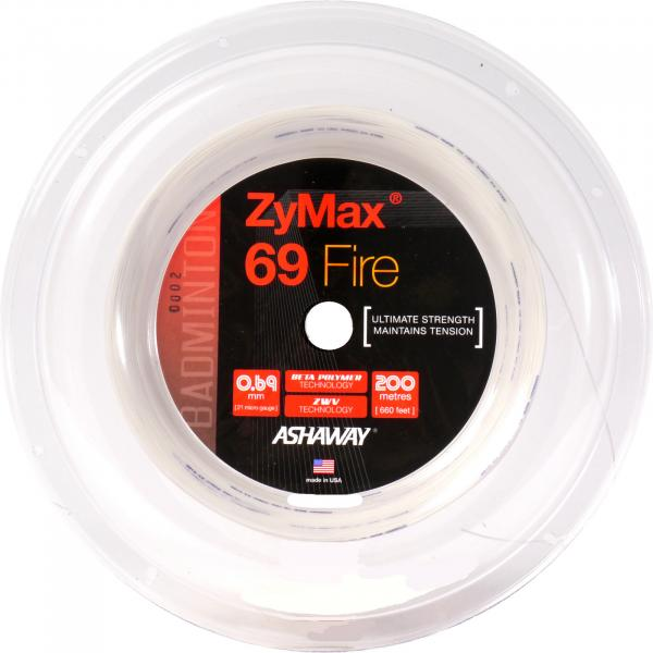 ASHAWAY ZyMax Fire 69 200 Meter coil white