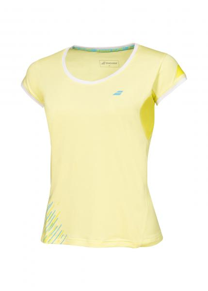 Babolat Cap Sleeves Performance Women yellow front