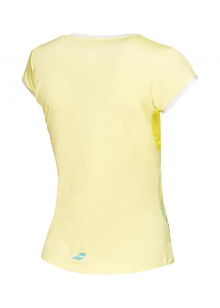 Babolat Cap Sleeves Performance Women yellow rear