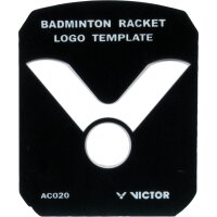 Victor Logo Badminton Schablone