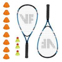 Vicfun Speed Badminton 100 Set mit Feldmarkierungen