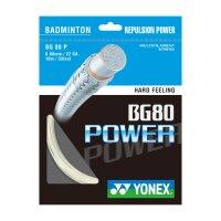 Yonex BG80 Power 10 Meter Set weiss