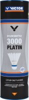 Victor Nylon Shuttle 3000 Platin 6er Dose weiss-blau